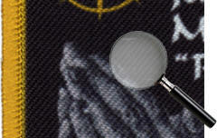 detail of dye sublimation memorial patch
