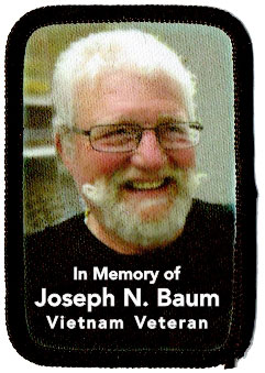 memorial photo patch for Joseph Baum