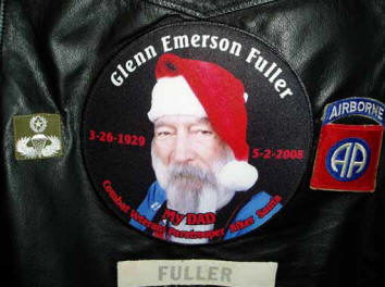 custom picture memorial patch on motorcycle vest