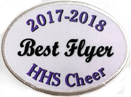 custom cheer position patch