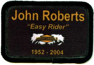 motorcycle memorial patch with logo