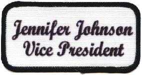 name patch for club officer