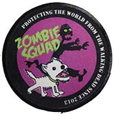 Zombie Squad HQ patch in purple