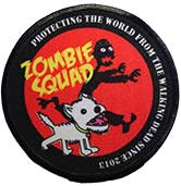 Zombie Squad HQ patch in red